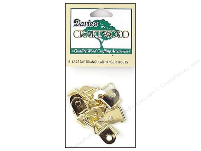 Darice Triangle Hanger 7/8 in. Brass 10 pc. (3 packages)