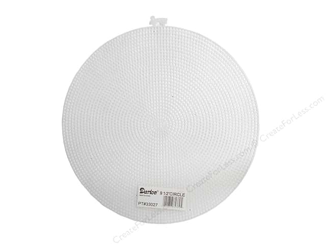 Darice Plastic Canvas #7 Mesh 9 1/2 in. Circle 1 pc. Clear