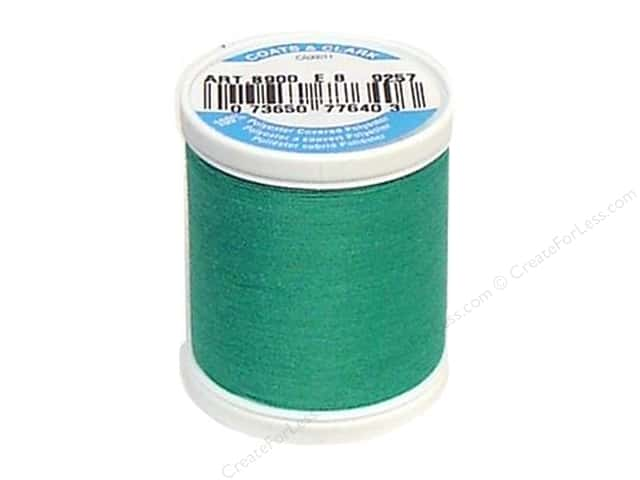 Coats & Clark Dual Duty XP All Purpose Thread 125 yd. #9257 Bright Aqua Green