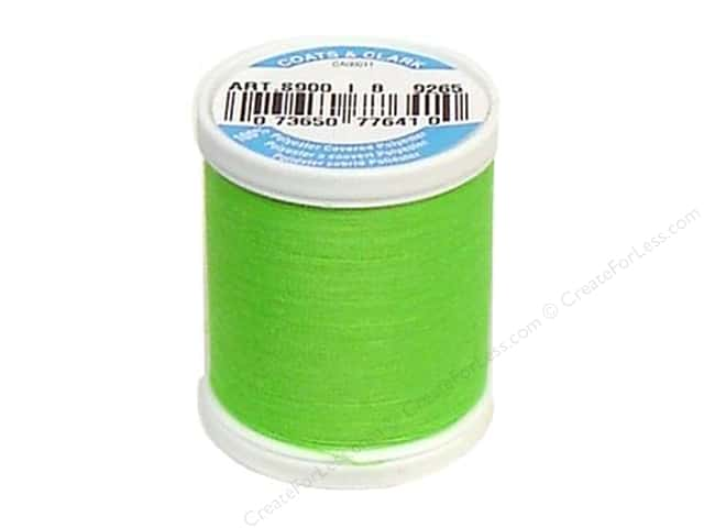Coats & Clark Dual Duty XP All Purpose Thread 125 yd. #9265 Neon Green
