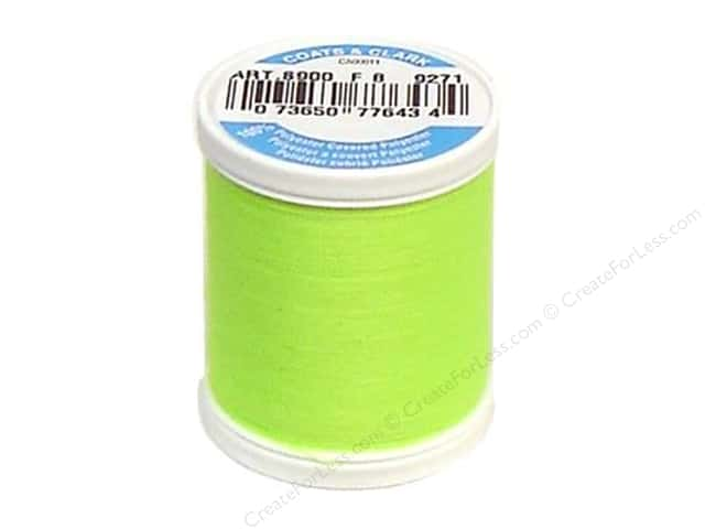 Coats & Clark Dual Duty XP All Purpose Thread 125 yd. #9271 Neon Bright Yellow
