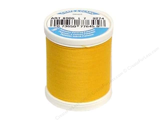 Coats & Clark Dual Duty XP All Purpose Thread 125 yd. #9274 Bright Gold