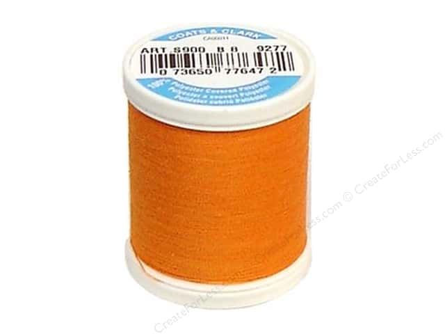 Coats & Clark Dual Duty XP All Purpose Thread 125 yd. #9277 Bright Pumpkin