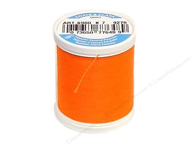 Coats & Clark Dual Duty XP All Purpose Thread 125 yd. #9278 Neon Orange