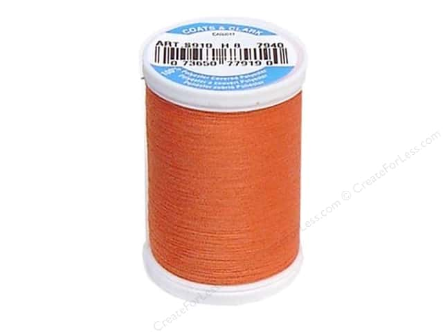 Coats & Clark Dual Duty XP All Purpose Thread 250 yd. #7940 Coral Rust