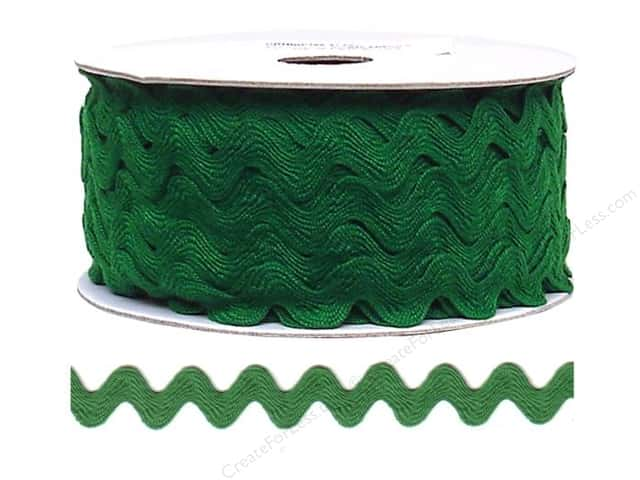 Cheep Trims Ric Rac 11/16 in. Emerald