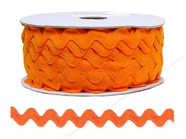 Cheep Trims Ric Rac 11/16 in. Orange