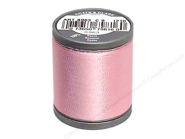 Coats Rayon Machine Embroidery Thread 225 yd. #1210 Pink