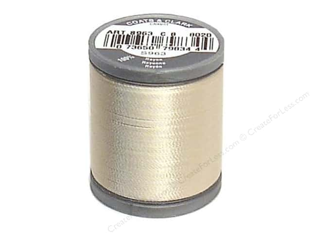 Coats Rayon Machine Embroidery Thread 225 yd. #8020 Cream
