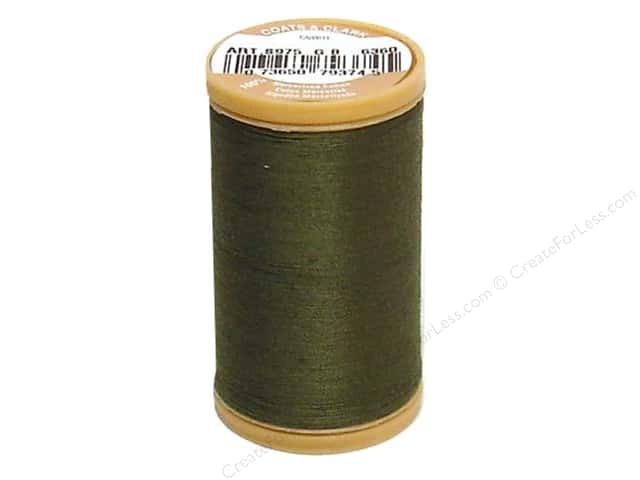 Coats Cotton Machine Quilting Thread #6360 Bronze Green 350 yd.