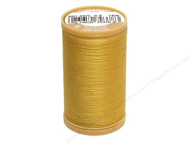 Coats Cotton Machine Quilting Thread #7450 Temple Gold 350 yd.