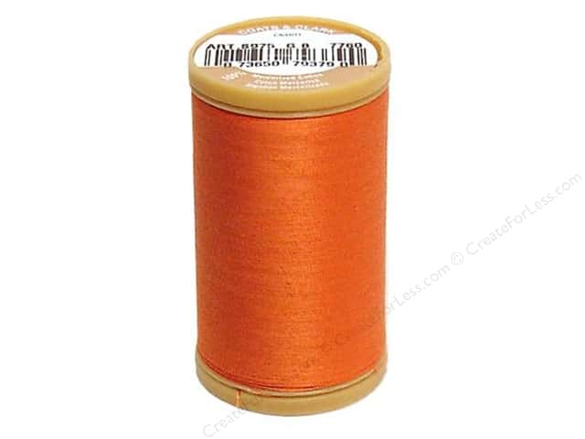 Coats Cotton Machine Quilting Thread #7760 Dark Orange 350 yd.