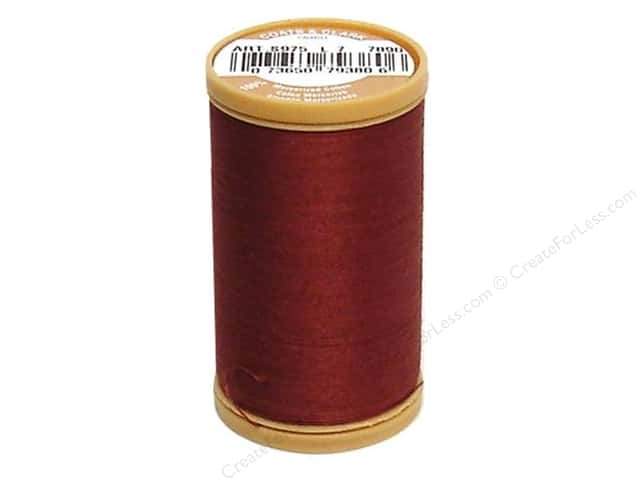 Coats Cotton Machine Quilting Thread #7890 Rum Raisin 350 yd.