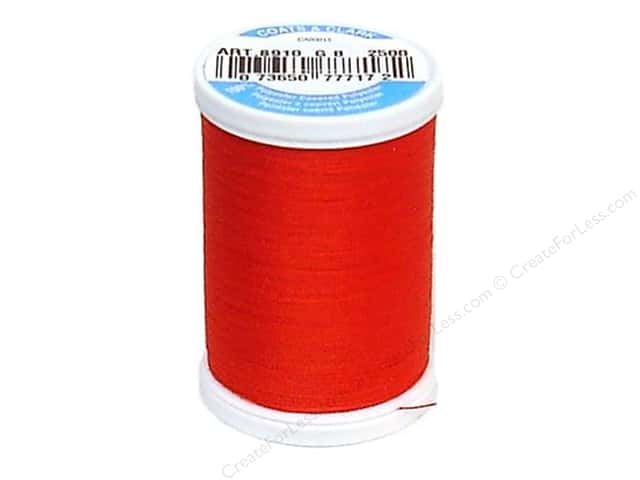 Coats & Clark Dual Duty XP All Purpose Thread 250 yd. #2500 Tomato