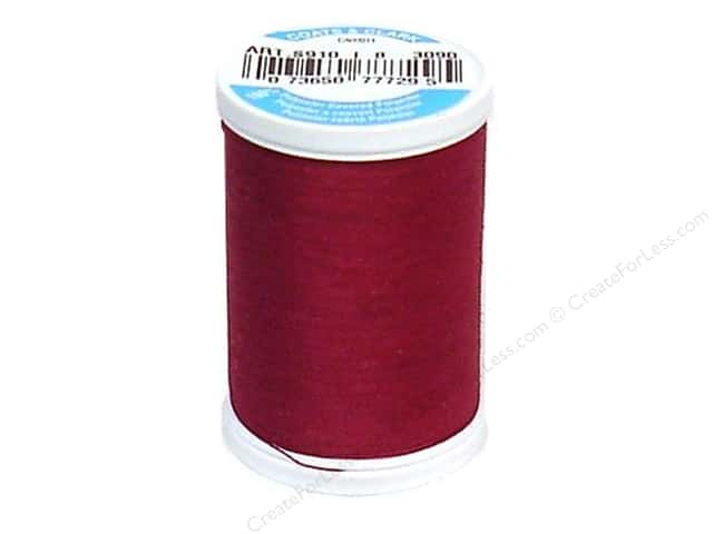 Coats & Clark Dual Duty XP All Purpose Thread 250 yd. #3090 Red Plum