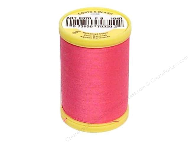 Coats All Purpose Cotton Thread 225 yd. #1840 Hot Pink
