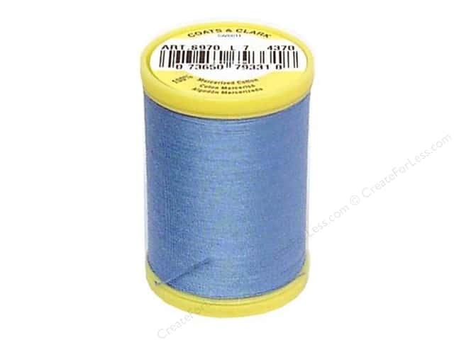Coats All Purpose Cotton Thread 225 yd. #4370 Medium Blue
