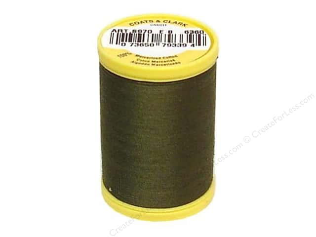 Coats All Purpose Cotton Thread 225 yd. #6360 Bronze Green