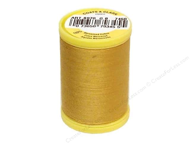 Coats All Purpose Cotton Thread 225 yd. #7450 Temple Gold