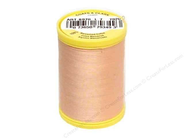 Coats All Purpose Cotton Thread 225 yd. #7920 Peach Blush