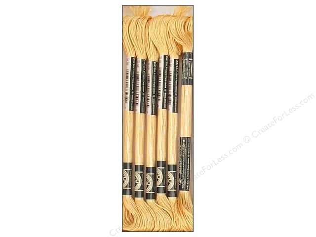 DMC Satin Embroidery Floss #S676 Light Golden Brown (6 skeins)