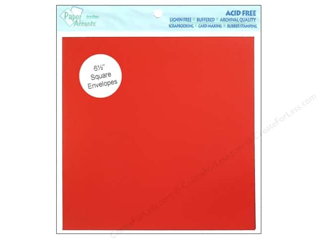 6 1/2 x 6 1/2 in. Envelopes by Paper Accents 8 pc. #139 Dark Red