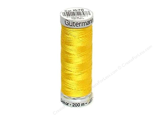 Gutermann Dekor Rayon Embroidery Thread 220 yd. #1570 Lemon Peel