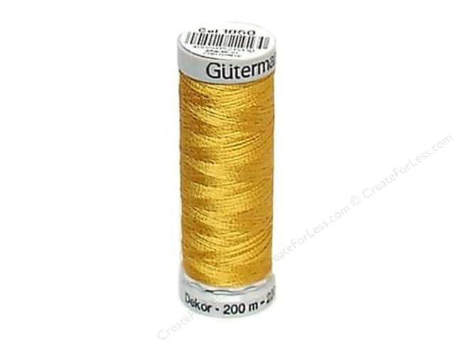 Gutermann Dekor Rayon Embroidery Thread 220 yd. #1850 Dark Maize