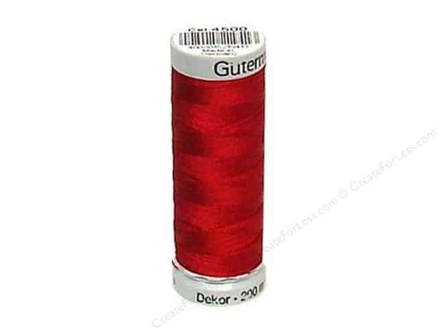 Gutermann Dekor Rayon Embroidery Thread 220 yd. #4500 Dark Red