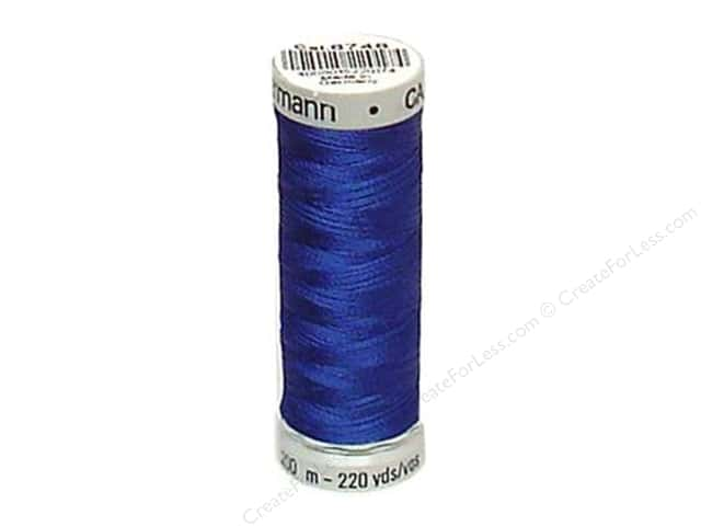 Gutermann Dekor Rayon Embroidery Thread 220 yd. #6746 Royal Blue