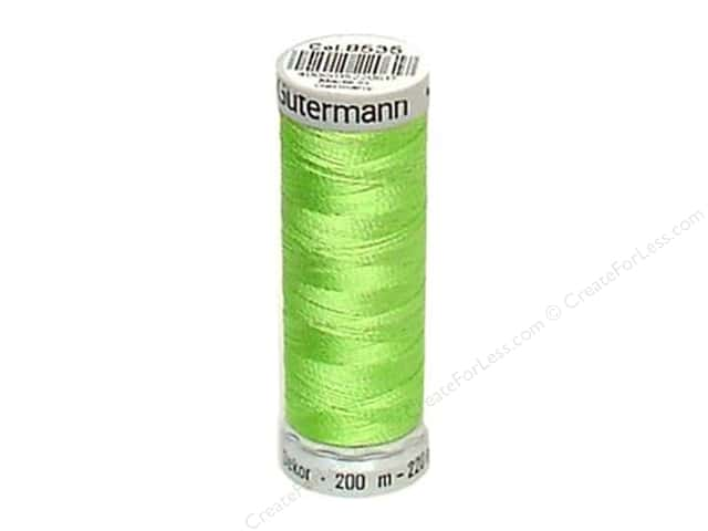 Gutermann Dekor Rayon Embroidery Thread 220 yd. #8535 Spring Green