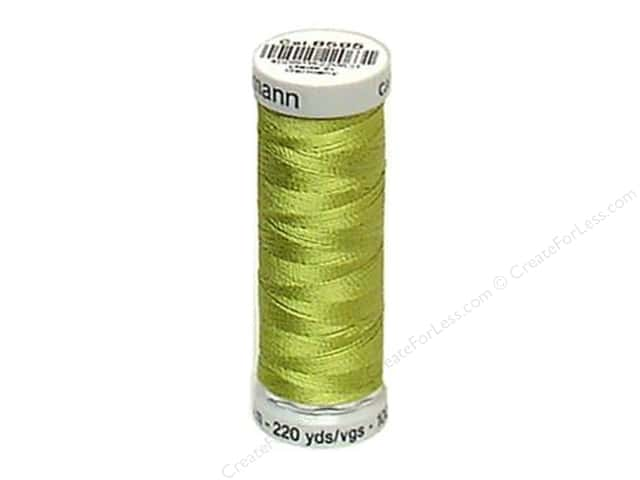 Gutermann Dekor Rayon Embroidery Thread 220 yd. #8610 Yellow Green