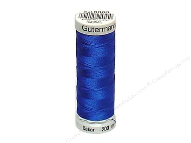 Gutermann Dekor Rayon Embroidery Thread 220 yd. #6660 Electric Blue