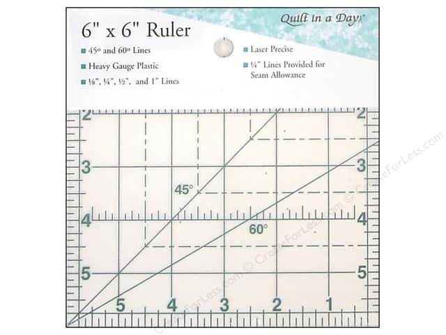 "Quilt In A Day Ruler 6"" Square Up"
