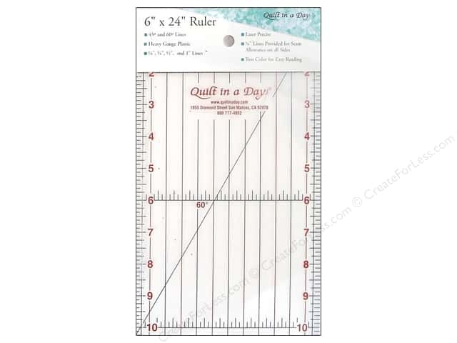 """Quilt In A Day Ruler 6""""x24"""""""