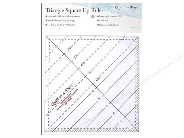 "Quilt In A Day Ruler 6.5"" Triangle Square Up"
