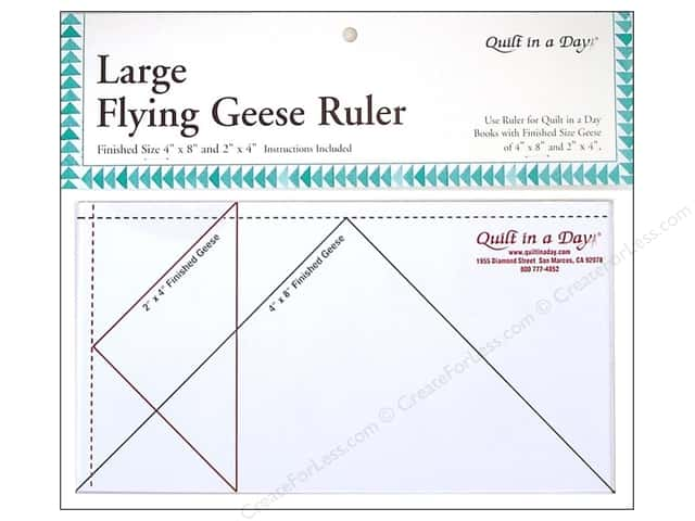 """Quilt In A Day Ruler Large Flying Geese 4""""x 8"""""""