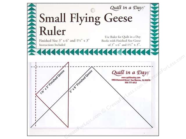 "Quilt In A Day Ruler Flying Geese 3""x 6"""