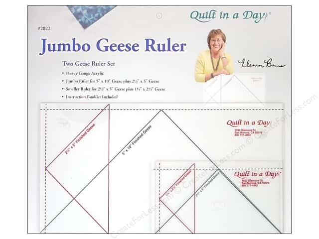 Quilt In A Day Ruler Jumbo Geese Set