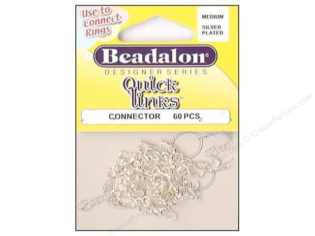 Beadalon Quick Links Connectors Medium Silver 60 pc.