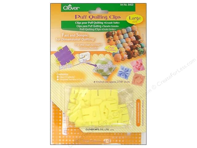 Clover Puff Quilting Clips - Large