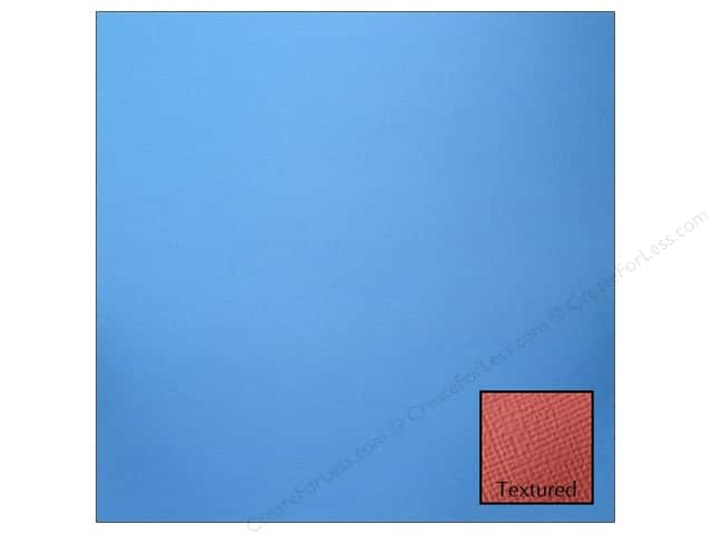 American Crafts 12 x 12 in. Cardstock Textured Marine (25 sheets)