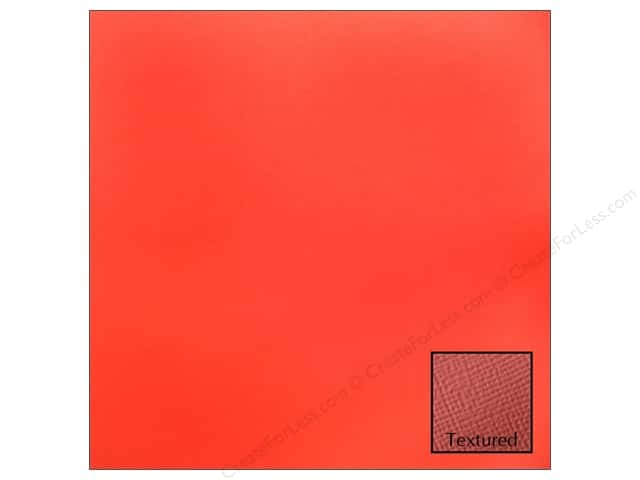 American Crafts 12 x 12 in. Cardstock Textured Rouge (25 sheets)