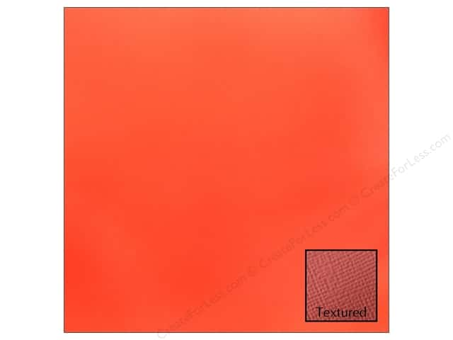 American Crafts 12 x 12 in. Cardstock Textured Crimson (25 sheets)