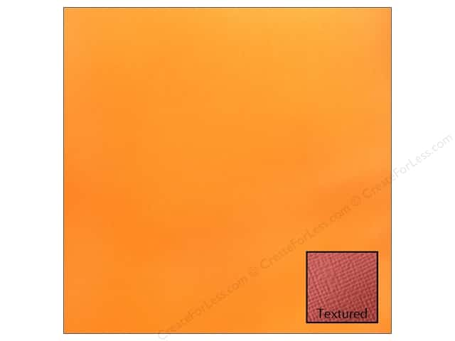 American Crafts 12 x 12 in. Cardstock Textured Carrot (25 sheets)