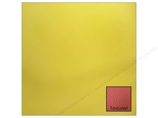 American Crafts 12 x 12 in. Cardstock Textured Lemon (25 sheets)