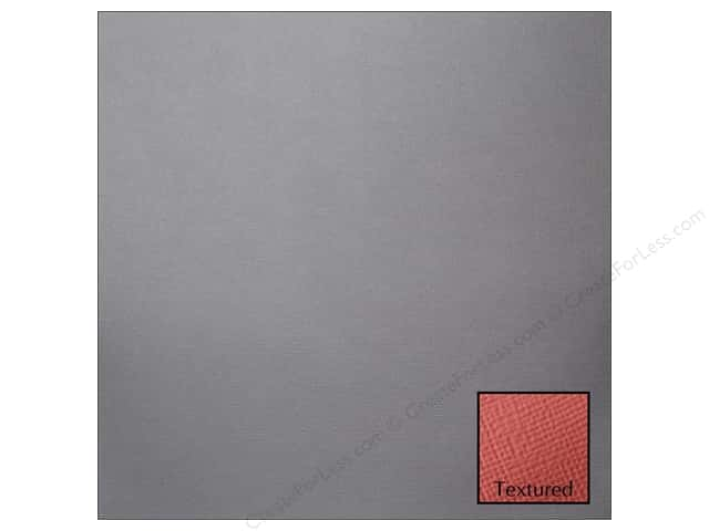 American Crafts 12 x 12 in. Cardstock Textured Graphite (25 sheets)