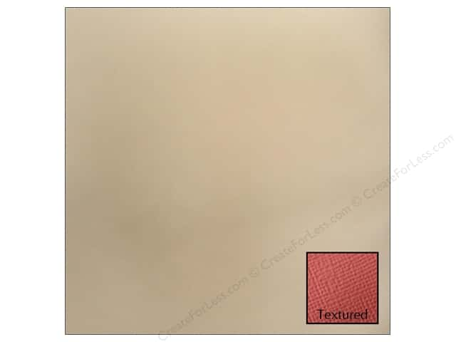 American Crafts 12 x 12 in. Cardstock Textured Vanilla (25 sheets)