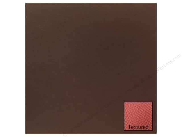 American Crafts 12 x 12 in. Cardstock Textured Coffee (25 sheets)
