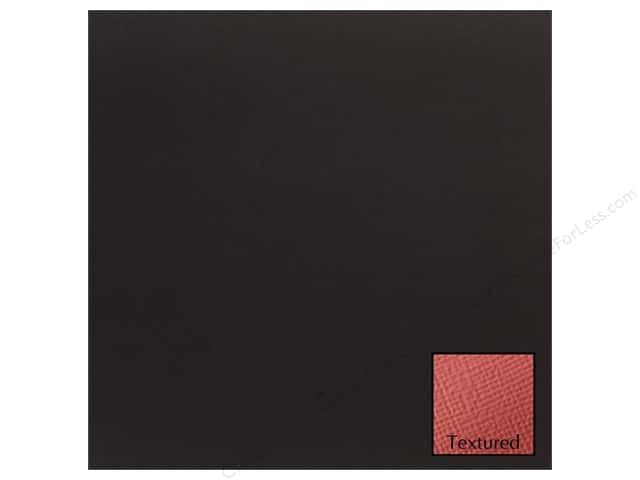 American Crafts 12 x 12 in. Cardstock Textured Black (25 sheets)